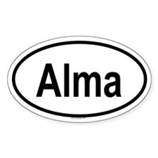 ALMA Oval Decal