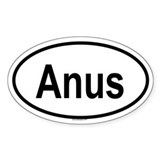 ANUS Oval Decal