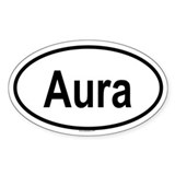 AURA Oval Decal