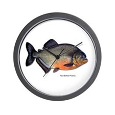 Red-Bellied Piranha Fish Wall Clock