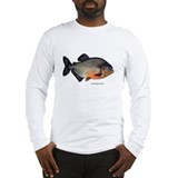 Red-Bellied Piranha Fish Long Sleeve T-Shirt