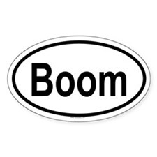 BOOM Oval Decal