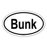 BUNK Oval Decal