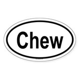 CHEW Oval Decal