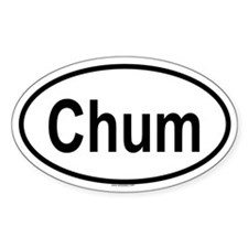CHUM Oval Decal