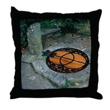 Chalice Well - Glastonbury UK Throw Pillow