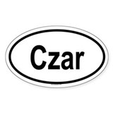 CZAR Oval Decal