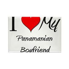 I Love My Panamanian Boyfriend Rectangle Magnet