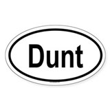 DUNT Oval Decal