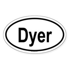 DYER Oval Decal