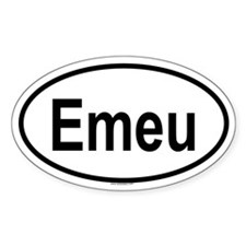 EMEU Oval Decal