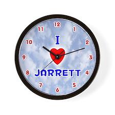 I Love Jarrett (Red/Bl) Valentine Wall Clock