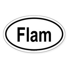 FLAM Oval Decal