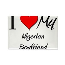 I Love My Nigerien Boyfriend Rectangle Magnet