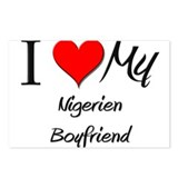 I Love My Nigerien Boyfriend Postcards (Package of