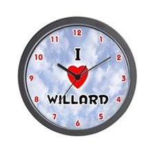 I Love Willard (Red/Blk) Valentine Wall Clock
