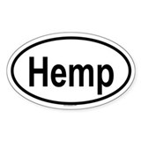 HEMP Oval Decal