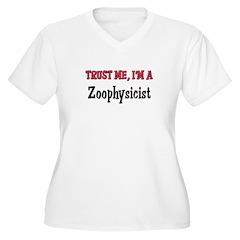 Trust Me I'm a Zoophysicist Women's Plus Size V-Ne