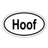 HOOF Oval Decal
