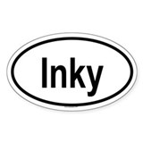 INKY Oval Decal