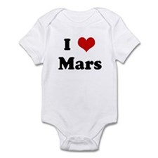 I Love Mars Infant Bodysuit