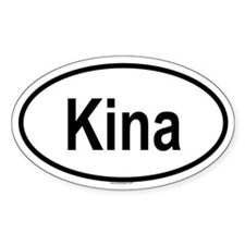KINA Oval Decal