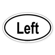 LEFT Oval Decal