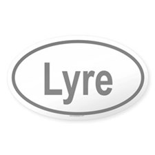 LYRE Oval Decal