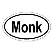 MONK Oval Decal