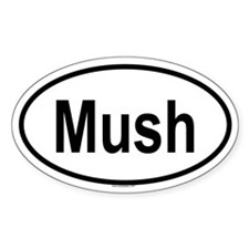 MUSH Oval Decal