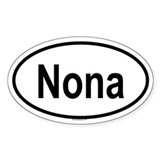 NONA Oval Decal