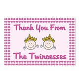 Twincesses Thank You Postcards (Package of 8)