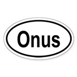 ONUS Oval Decal