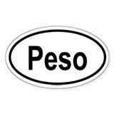 PESO Oval Decal