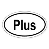 PLUS Oval Decal