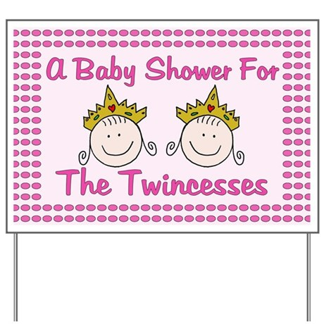 baby gifts baby yard signs twincesses baby shower yard sign