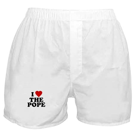 I Love [heart] the Pope Boxer Shorts