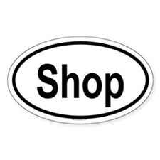SHOP Oval Decal