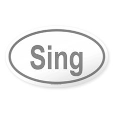 SING Oval Decal