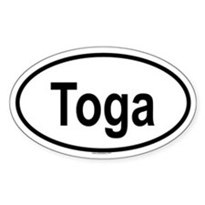 TOGA Oval Decal