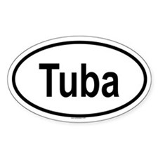 TUBA Oval Decal
