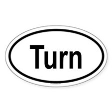 TURN Oval Decal