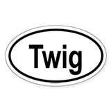TWIG Oval Decal