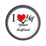 I Love My Kenyan Boyfriend Wall Clock