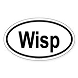 WISP Oval Decal
