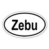 ZEBU Oval Decal