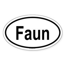 FAUN Oval Decal