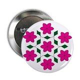 Pink and Green Rangoli Button