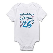 February 26th Birthday Infant Bodysuit