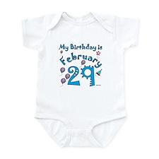 February 29th Birthday Infant Bodysuit